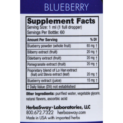 Herbasway Laboratories Blueberry Magic Deep Blue Tea - 2 Fl Oz