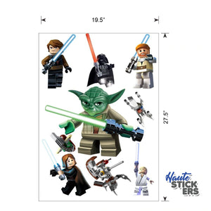 Star Wars Lego Peel and Stick Wall Decals