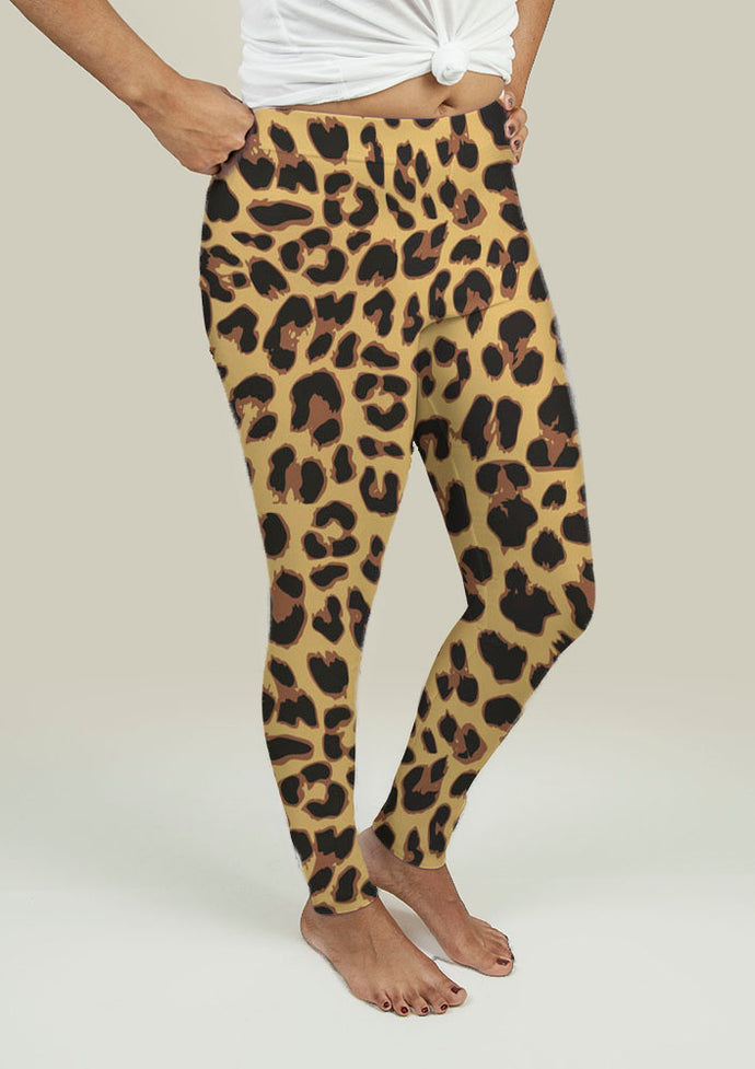 Leggings with Leopard Print