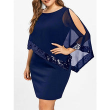 Plus Size Women Bodycon Shawl Tunic Dress Ladies Party Party Summer Short Mini Dresses Sequins Formal Elegant Dress 2019 New