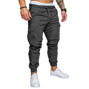 2019 Hot Men's Joggers Pants Fashion Autumn Mens Sweatpants Solid Color Pocket Camoufage Trousers Casual Long Slim Outwear Pants