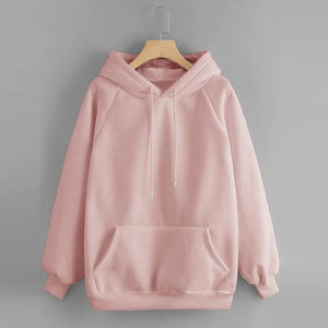 Winter Sweatshirt Women's Hoody Long Sleeve Hoodies Hooded Pullover Tops Blouse With Pocket Soild Sweatshirts For Women #D7