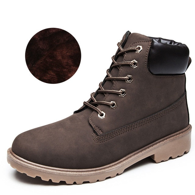 Unisex Men Boots Winter Shoes Warm Ankle Boots Men Winter Boots Snow Boots Men Winter Boots Footwear Fashion Mens Shoes Winter