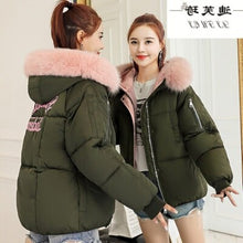 bb winter jacket women Large fur collar down wadded jacket female cotton-padded jackets thickening women winter coat