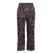 M XL XXL 3XL Funny  Unisex Printed Chef Pants Uniform Baggy Kitchen Work Trousers