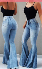 New 2019 High Waist Female Boyfriend Ripped Jeans For Women Plus Size Pants Bell Bottom Denim Flare Mom Jeans Skinny Jeans Woman
