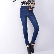 Fashion Solid High Waist women jeans Full Length Casual Stretch Skinny Pencil Jeans Women Plus Size 26-40 2018 Autumn Hot Sale