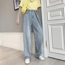 High Waist Straight Jeans Women Plus Size Boyfriends Mom Jeans Mujer Loose Vintage Wide Leg Denim Jeans Pants Ladies
