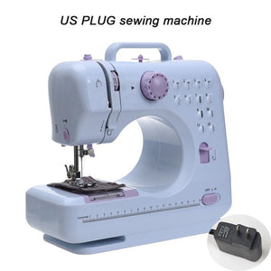 Fanghua Mini 12 Stitches Sewing Machine Household Multifunction Double Thread And Speed Free-Arm Crafting Mending LED