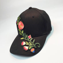Floral Applique Baseball Cap 2017 Summer New Women Men Couple Unisex Snapback Hip Hop Flat Leisure Hat cap wholesale