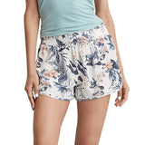 Women Sexy Hot Pants Summer Casual Floral Printed Shorts High Waist Drawstring Print Beach Wear Short Pants