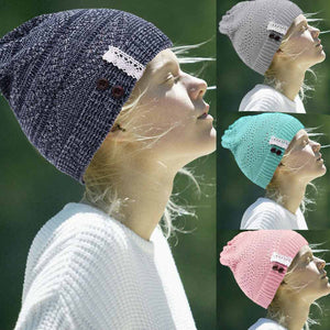 Hollow Out Knitting Hat 2017 Autumn Winter Women Sexy Lace balaclava Fashion Bottons beanie Hat for women