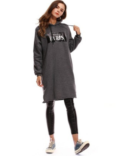 Pockets Straight Women's Hooded Dress