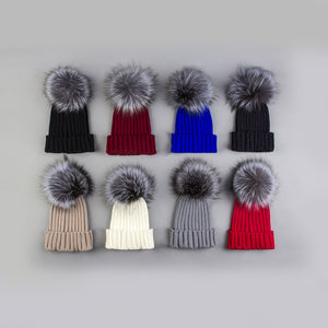 Stylish Women Winter Hats Fashionable Crotchet Knit Beanie Cap Hat Warm with Ball Top for Women Girls