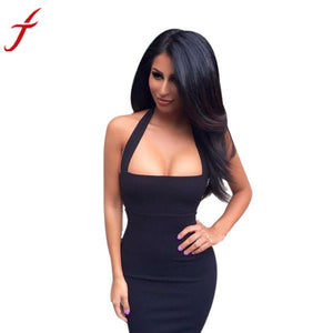 Fashion Women Dress 2016 Sexy Party Dresses Bandage Bodycon Sleeveless Sexy Club Dress Evening Midi Dress #LSIN