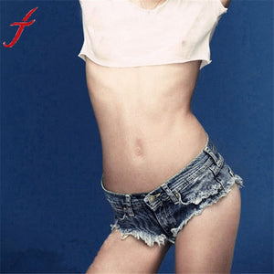 New Sexy Cut Off Low Waist Women Denim Jeans Shorts Short Mini Hot Pants Jecksion #LYW