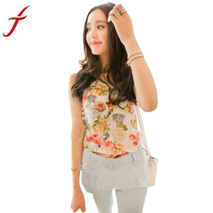 JECKSION Spring Summer Women'sasual Chiffon Sleeveless Shirt Blouse  size Vest Women Casual Waistcoat Vests Ladies Clothing