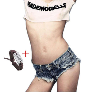 Sexy Women Cut Off Low Waist Denim Jeans Shorts Mini Hot Pants