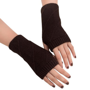 Feitong Winter Gloves Women Mitten Warmer Fingerless Girl Knitted Arm Gloves Soft Female Outdoors Winter Knitting 11 Colors#3