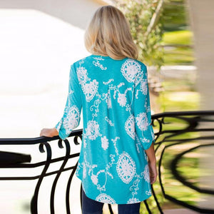 Feitong Brand Women Blouse Flower Printed Autumn Long Sleeve Plus Size Loose Casual Blouse Tops blusas mujer de moda 2017