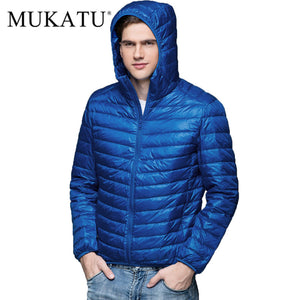 Men Duck Down Jacket Parka Winter Hooded Down Coat