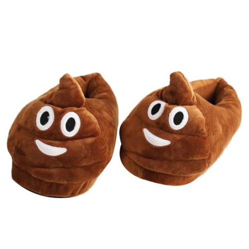 Plush Slipper Expression Men And Women Slippers Winter House Shoes