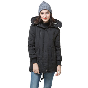 Winter Fashion Women's Fleece Parka Warm Coat Hoodie Overcoat Long Jacket