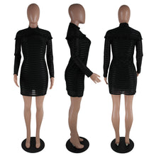 Women Dress O-Neck Long Sleeve Bodycon Party Dresses
