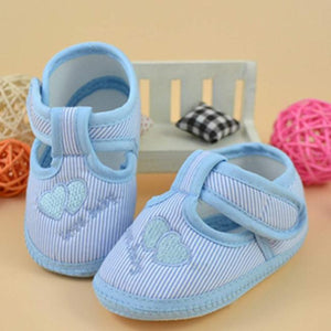 Newborn Girl Boy Soft Sole Crib  Shoes Canvas Sneaker