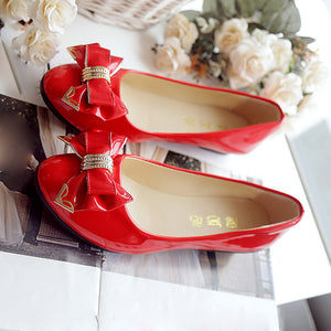 Spring Autumn Toe Flat Heel Bow Tie Shoes Women Fashion Women's Flat Shoes