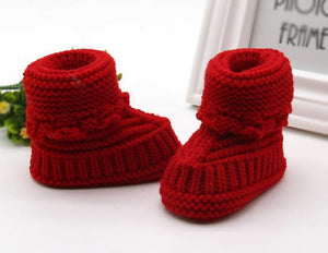 Toddler Newborn Baby Knitting Lace Crochet Shoes Buckle Handcraft Shoes
