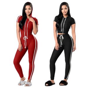 Women Ladies Pullover Hoodies Sweatshirt Tops+Pants Sport Wear Casual Sets
