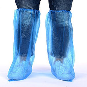 Long Shoe Cover Clear Waterproof Anti-Slip Overshoe for Women Men