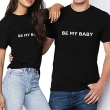 Men Women Letter Print T-Shirt Tops Blouse Tee Short Sleeve Couple Shirt
