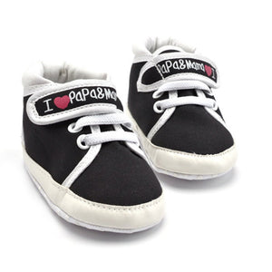 Newborn Unisex Baby Casual Shoes Canvas 0-12 Months Toddler Shoes Infant Sole Shoes Soft Bottom Non-slip Hook & Loop Shoes