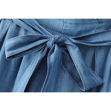 malianna Autumn Casual Women Solid Jeans Wide Leg Pants Bow Tie Sashes Style Female Pants Blue Loose Ankle-Length Pants