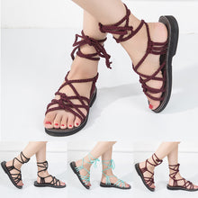 Women Cross Strap Roman Sandal Summer Shoes Slipper Fashion Beach Shoes Slippers