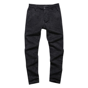 New winter Brown Corduroy stripes mens pants casual fashion Mens winter pants Business Trousers Pantalones Hombre K1038