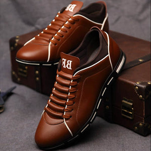 Fashion Men Flats Casual Shoes Loafers Mocassin Homme Leather Lace-up Driving Shoes Footwear Zapatillas Hombre Casual