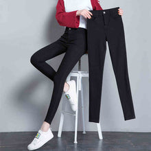 New Arrivals Fashion High Stretchy Women Pencil Jeans Skinny Pants High Wasit Female Slim Lady Pants Plus Size