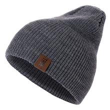 1 Pcs Hat PU Letter True Casual Beanies for Men Women Warm Knitted Winter Hat Fashion Solid Hip-hop Beanie Hat Unisex Cap