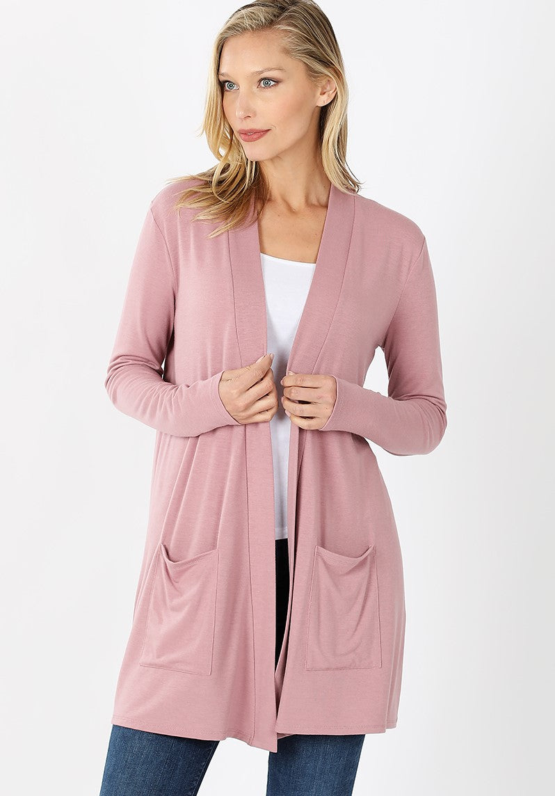 Staple Cardigan - Light Rose