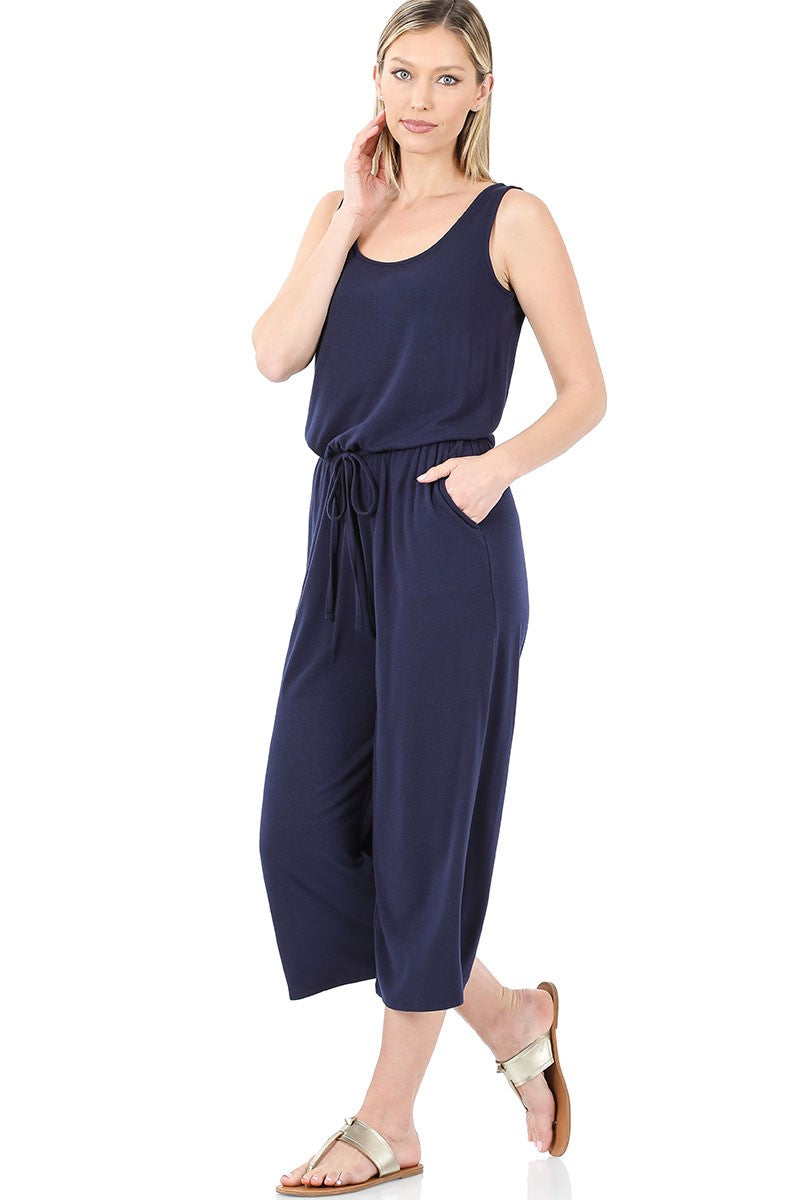 So You Into You Jumpsuit - Navy *curvy*