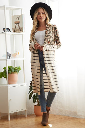 Feelin' Wild Cardigan - Animal Print