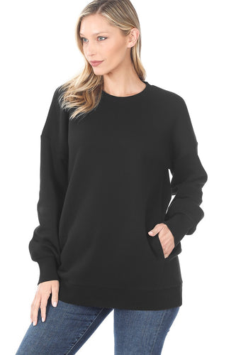 Alyssa Crew Neck Sweater - Black - SALE!
