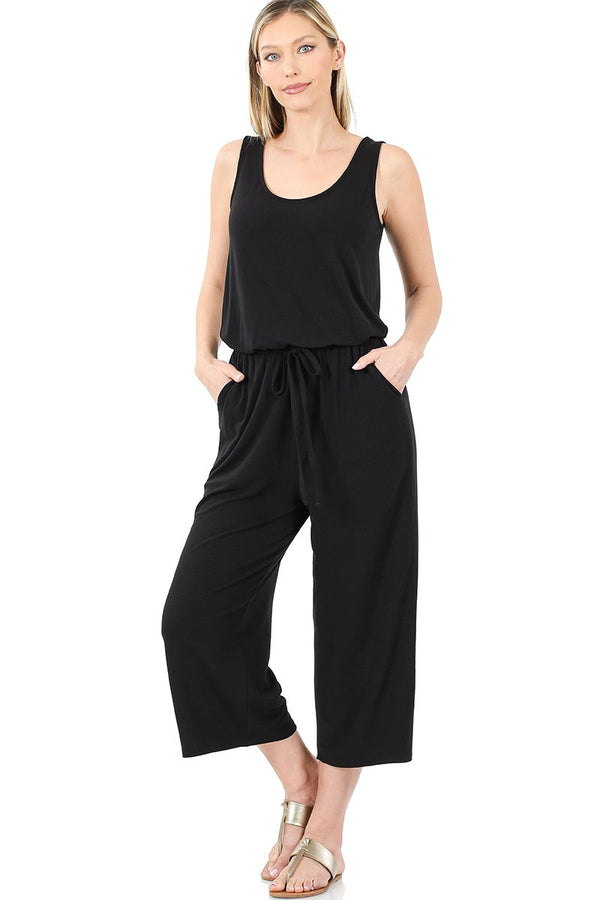 So You Into You Jumpsuit - Black *curvy*