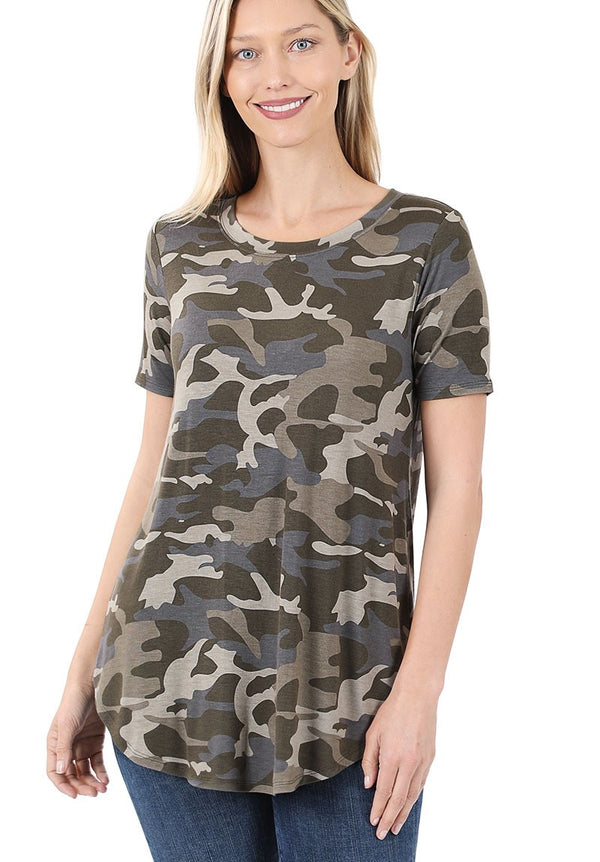 Dusty Camoflauge Tunic *curvy*