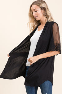 Date Night Cardigan - Black - SALE!