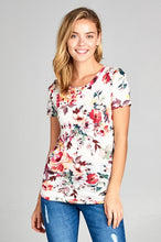 Load image into Gallery viewer, Gracie Floral Tee - Ivory/Pink - SALE!