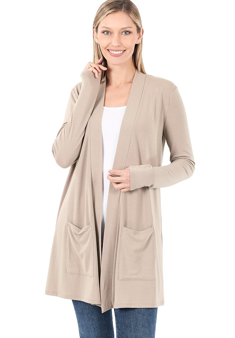 Staple Cardigan - Ash Mocha